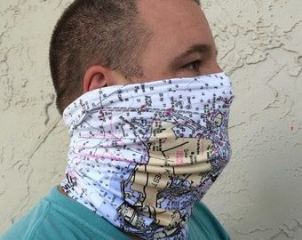 Popular items for key west map on etsy for Neck gaiter fishing