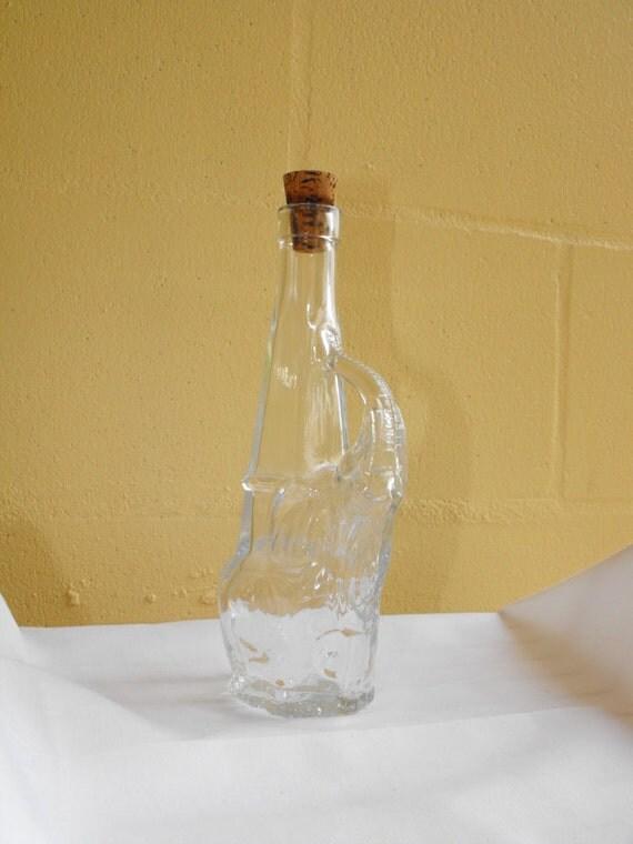 Vintage Collectors Elephant Vine Glass Bottle Italy