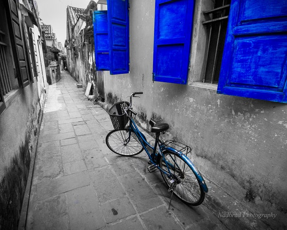Black and White Blue Color splash Bike Bicycle by ...