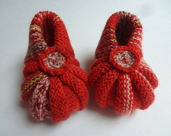 SALE - Knit Baby Booties Baby Girl Booties,Baby boy Booties,Shoes Baby,Baby Booties Shoes,Baby Size Shoes,Red baby booties