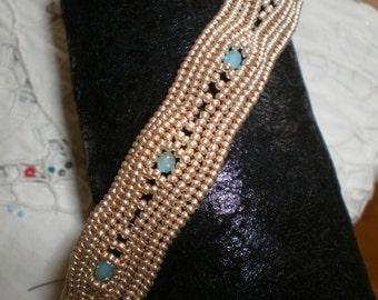 Yellow Herringbone Bracelet
