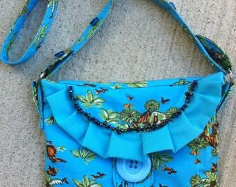 Shoulder bag in handmade, Shoulder bag for girls, Girl summer bag, Canvas shoulder bag in handmade