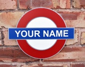 Custom Made PERSONALISED London Underground British Tube Sign Plaque