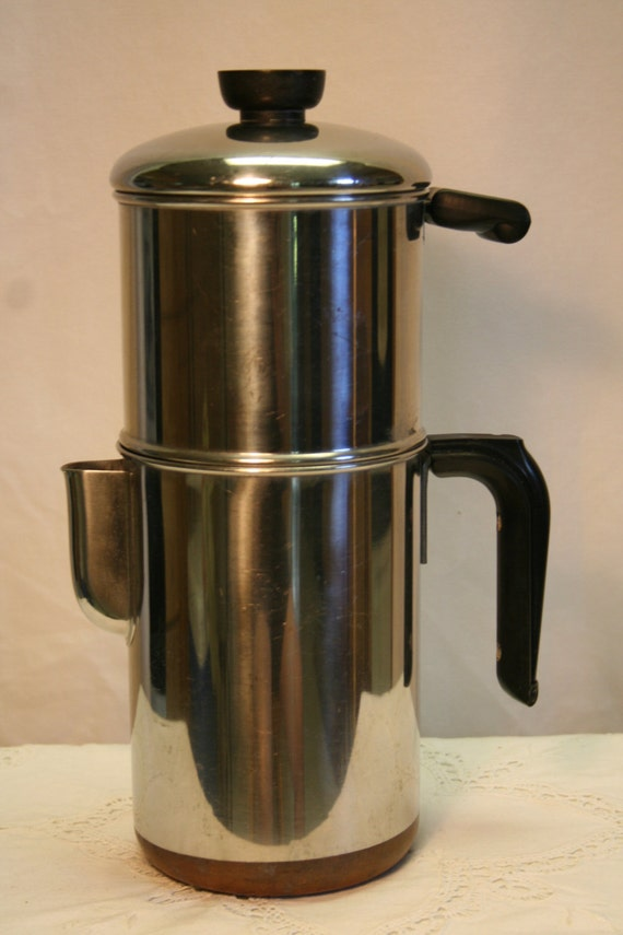 Vintagerevere Ware Drip O Lator 1801 Copper Clad 8 Cup