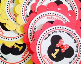 Minnie Mouse tags, Minnie Mouse gift tags, Minnie Mouse favor tags