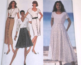 Vintage Simplicity 8498 Misses' Pencil and Flared Skirt Pattern presented by Donellensvintage