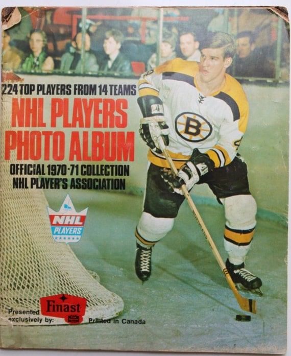 1970 71 Nhl Players Photo Album Bobby Orr Cover 50 Collected