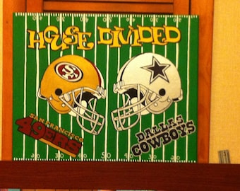 House Divided Football Painting
