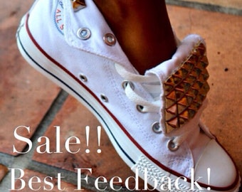 Studded Converse Chuck Taylor All Star Shoes Trainers