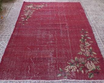 VİNTAGE Turkish Overdydyed rug 79x49