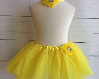 Yellow Baby Tutu Set