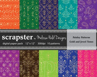 Paisley Patterns: Jewel Tones with Gold