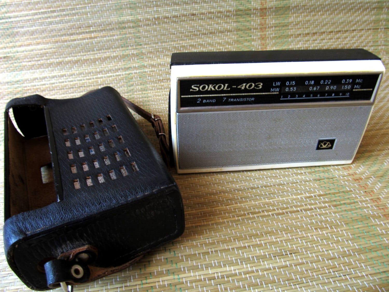 Sokol radio vintage sovi tique russe portable transistor en for Bascule transistor
