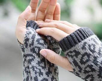 G1  Long Hand-knitted  Gloves  Wrist Warmers  Soft  Fingerless Gloves