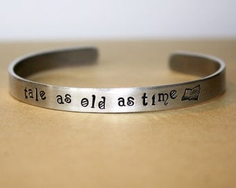"""Beauty and the Beast - """"Tale as old as time..."""" Bracelet"""
