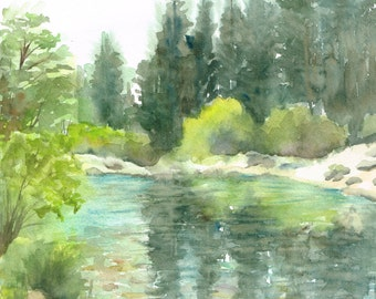 Custom Landscape Watercolor