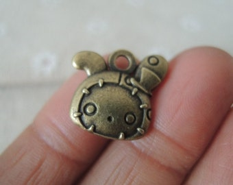 12Pcs  17x18mm antique bronze lovely doll charming   (A240)