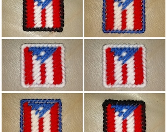 Set of 6 Mini Puerto Rican Flag Refrigerator Magnets