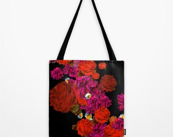 Roses // Canvas Tote // Bag // Shopper