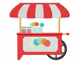 Candy Cart Machine Embroidery Design