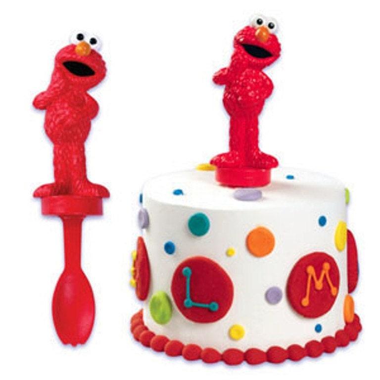 Elmo Cake Decorations : Elmo Spoon Cake Decorating Topper