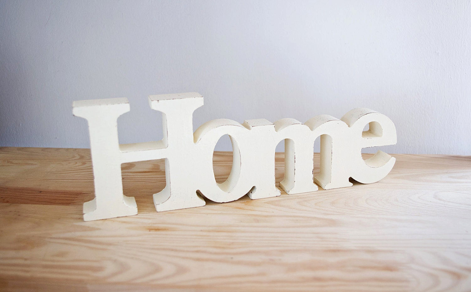 Home decor wooden word home shabby chic decorative for Deco murale shabby chic