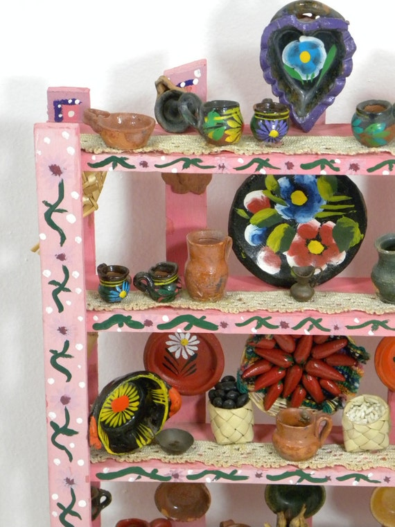 Mini Cocina Collection Wooden Shelf Kitchen Miniature