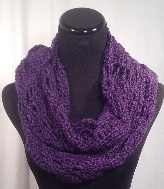 Free Triangle Infinity Scarf Crochet Pattern : Triangle-Stitch Crochet Infinity Scarf by DapperCatDesigns ...