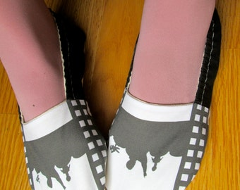 MST3K,Mystery science theater 3000,Tom Servo, Crow T. Robot, Gypsy, Cambot, Manos,Cult classic, geeky womens shoes,