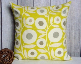 Pillow Cover. Throw Pillow. Home Decor. Accent Pillow. Yellow Pillow. Green Pillow
