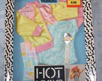 1987 3828 Mattel Hot Looks Satin Jacket Set NRFB
