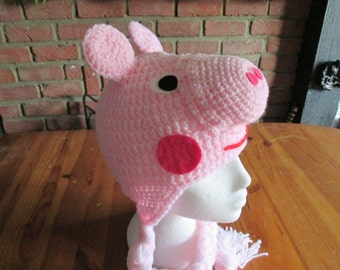 Peppa pig crochet hat, prices vary, please see full listing for details.