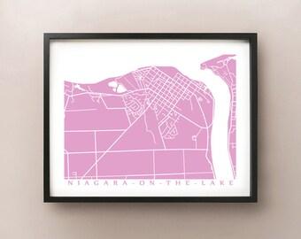 Niagara on the Lake Map - Canada Wall Art - NOTL, Ontario - Niagara Region