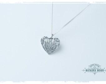 Protea heart Pendant