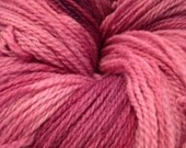 Raspberry Beret Pink Hand Dyed Yarn, Fingering Weight Wool - IndigoKittyYarns