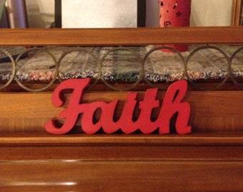 """Wooden """"Faith"""" Sign"""