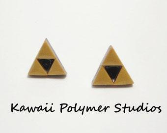 Legend of Zelda Tri Force earrings