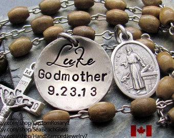 Baptism Gift Boy Godparent, Godparent Rosary, Confirmation Gift Boys, Personalized Rosary Godparent, Gifts for Godparents, Boy Confirmation