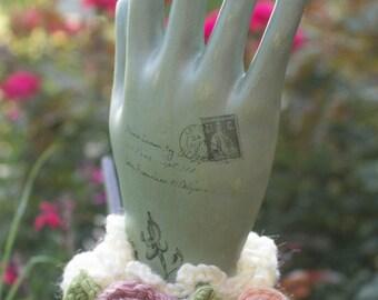 Made to Order Vintage Crochet Rose Corsage Wristlet/Anklet