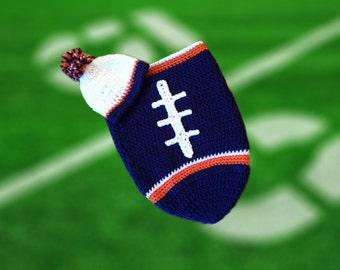 Chicago Fan Favorite Baby Boy Football Cocoon & Hat (Newborn to 3 months)