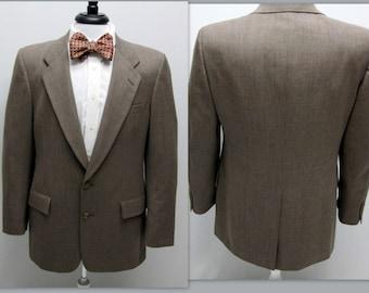 Vintage Men's Sports Coat, Christian Dior Monsieur Wool Brown Blazer,  Christian Dior Sports Coat