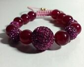 Agate shamballa bracelet