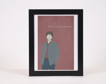 Will Graham -inspired minimalist print