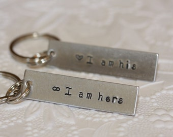 His and hers keychain, 1 set