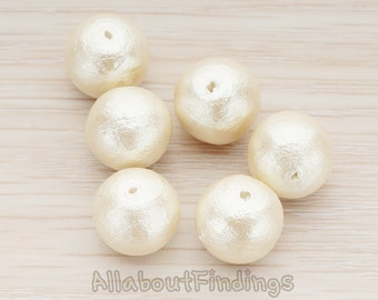 ETC995-03 // Cotton Pearl Beads, 12mm, 2pc