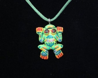 Mola Frog necklace
