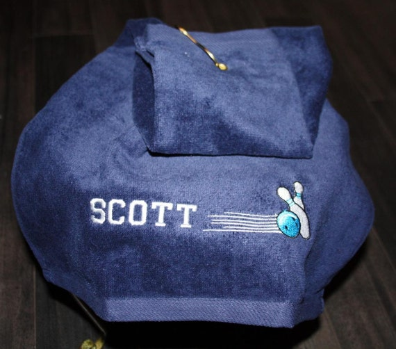Custom Embroidered Bowling Towel With Name Or By TootsiesGirls