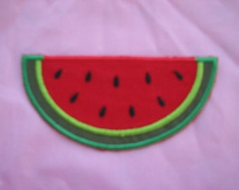 Watermelon Summer Time Picnic Fruit Iron on No Sew Embroidered Patch Applique
