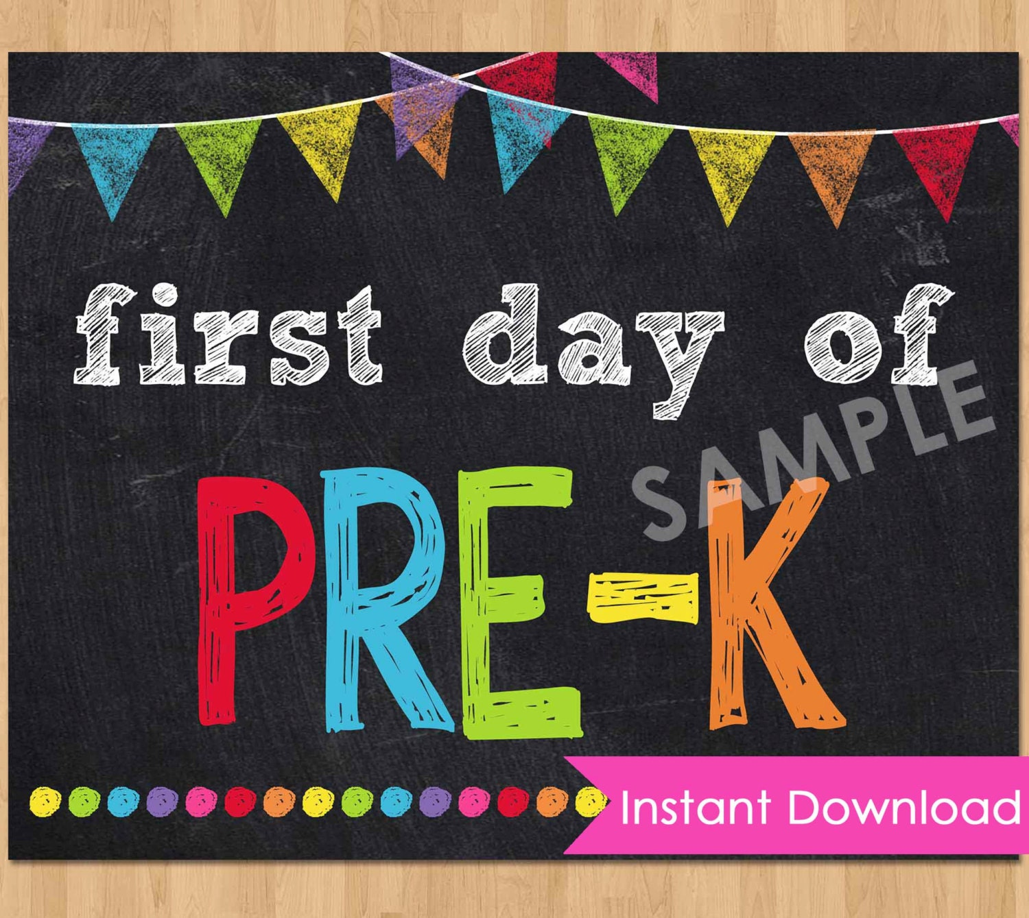 This is an image of Unforgettable First Day of Pre K Printable Sign