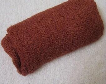 Newborn Stretch Knit Wrap Photo Prop Rust